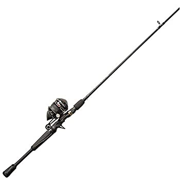 Zebco Omega Pro Spincast Reel and 2-Piece Fishing Rod Combo Durable 6-Foot 6-inch Rod ComfortGrip Rod Handle Instant Anti-Reverse Fishing Reel Size 30