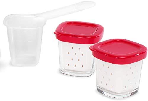 Tefal XF100501 - Set de 6 tarros Multidelice, color blanco y rojo