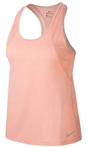 NIKE W Nk Run Tank Camiseta sin Mangas, Mujer, Pink Quartz/Pink Quartz/(Reflective silv), M