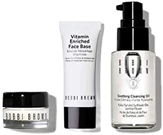 Bobbi Brown The Hydration Heroes Set with Soothing Cleansing Oil 1 fl oz, Hydrating Eye Cream 0.1 fl oz & Vitamin Enriched Face Base 0.5 oz