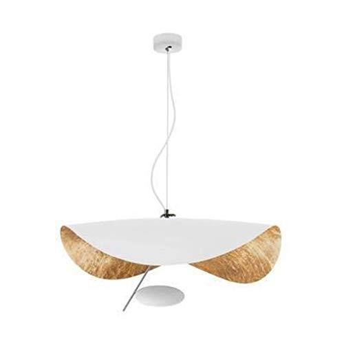 Pendant Light Pendant Lights Simple Lámpara de techo creativa Deco salón colgante lámpara Loft Sala de comedor aparatos de iluminación ZHQHYQHHX (Body Color : Blanca, Tamaño: Warm)