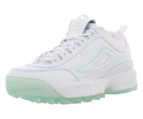 Fila Kids Disruptor II Ice Pack Sneakers (6, White/Aruba Blue)