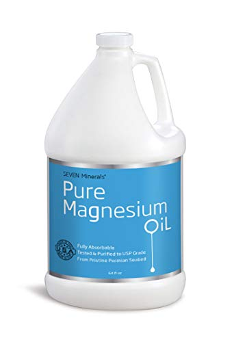 Travel Size Pure Magnesium Oil Spray - 100% Natural, USP Grade = No Unhealthy Trace Minerals - From an Ancient Underground Permian Seabed in USA - Free Ebook Included (2 fl oz)