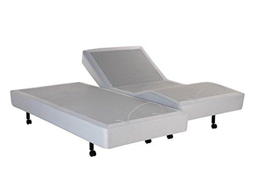 Leggett and Platt S-Cape Split Adjustable Bed Base, Wireless, Wall Hugger, Full Body Massage, King