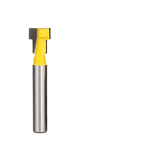HYJ-ML, 1pc 1/4 '' 1/2 '' de 8 mm Vástago T Slot bit Fresa del Ojo de la Cerradura Orificio de Tornillo Cortador de fresado CNC Router Herramientas Madera (tamaño : 4pcs Router bit Set)