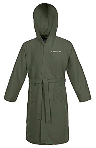 Speedo Microfiber Albornoz, Hombre, Verde (Army Green), S