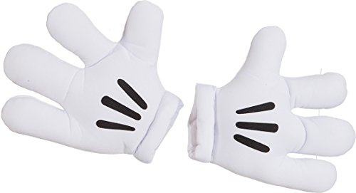 Orlob NEU Jumbo Maus-Handschuhe, weiß