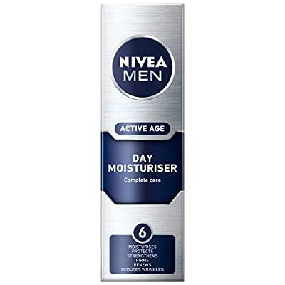 NIVEA MEN Active Age Face Moisturiser (50 ml), Anti Ageing Face Cream, Face Moisturiser for Dry Skin, Moisturiser for Men Firms Skin and Reduces Wrinkles from Beiersdorf Uk Ltd