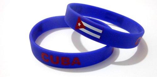 AccessCube, Unisex Silikon-Armband, mehrfarbig, Länderflagge, Sport, Mode, 20,2 cm, Damen, Kuba
