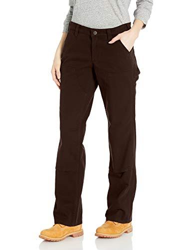 Carhartt Women's Original Fit Crawford Double Front Pant, Dark Brown, 6