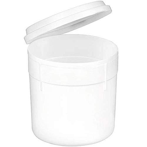 Sputumbecher aus Kunststoff mit Klappdeckel - Einweg - 150 ml Volumen - Spuckbecher Spuckgefäß mit Deckel Mundspülbecher Speichelbecher (10)