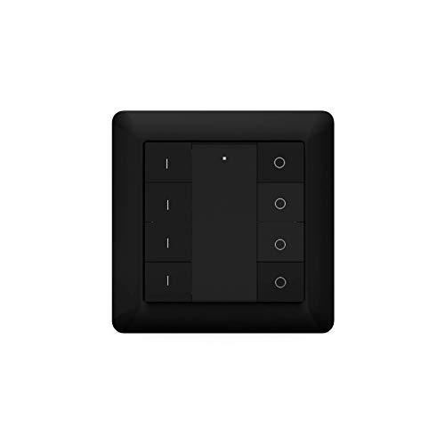 HeatIt, telecomando da parete senza fili Z-Wave a otto tasti, colore: nero