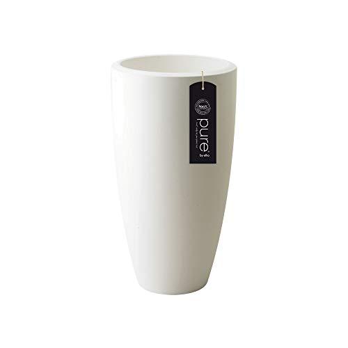 elho Pure Soft Round High Vaso, Bianco, 29.5 x 29.5 x 53.2 cm