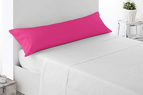 Miracle Home Federa per Cuscino, Morbida e Confortevole, in Cotone 50% Poliestere, Fucsia, per Letto da 90 cm