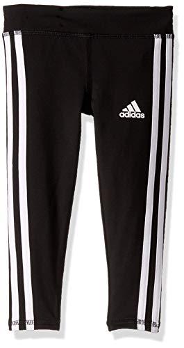 adidas Girls' Toddler Performance Tight Legging, Black, 3T