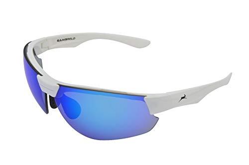 Gamswild WS3032 Sonnenbrille Skibrille Fahrradbrille Unisex Herren Damen | blau | grün | weiß, Farbe: Weiß