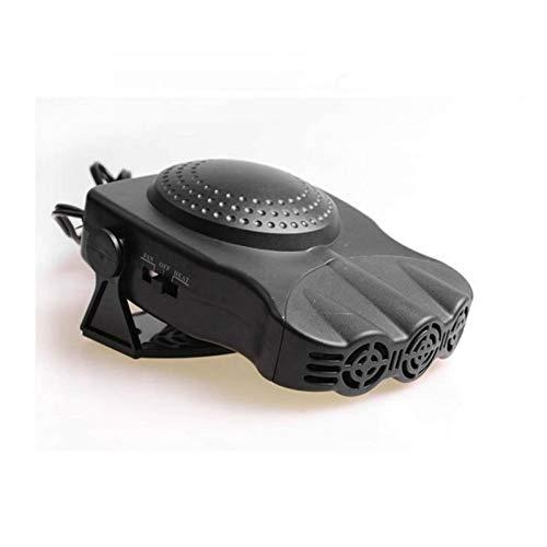 CHENJIAO 12V 150W Auto Fahrzeug-Kühlventilator Heizung Windschutzscheibe Demister Defroster Warm 2 In 1 Beweglichen Auto Auto Van Heizung Auto-Heizung (Color Name : Black)