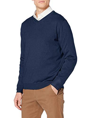 Pierre Cardin Knit V-Ausschnitt Suter Pulver, Azul (Haven 3106), XL para Hombre