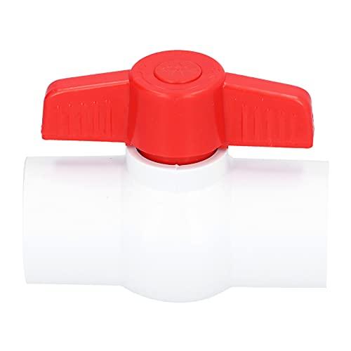 Válvula de Bola en línea, Accesorios de plomería para riego de jardín de PVC Válvulas de Cierre con Mango en T Accesorios de tubería para riego(DN15)