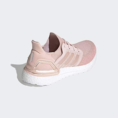 adidas womens Ultraboost 20,Pink/Pink/White,10.5 M US