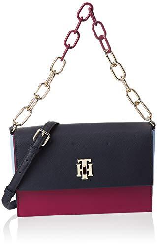 Tommy Hilfiger Damen Th Saffiano Crossover Business Tasche, Violett (Beet Red Mix), 1x1x1 cm