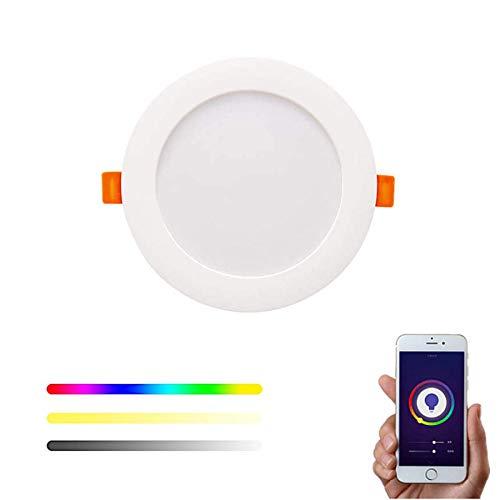 Downlight WiFi Inteligente LED RGBW Empotrable Techo compatible con Alexa y Google Home, Smart Life, Tuya, Multicolor Regulable 10W – Smartfy