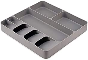Joseph Joseph Drawerstore Kitchen Drawer Organizer Tray for Cutlery Silverware, Gray