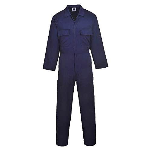 Portwest Overall, mit Druckknopfleiste vorne, Marineblau, Größe 3X-Large, XL, navy, 1
