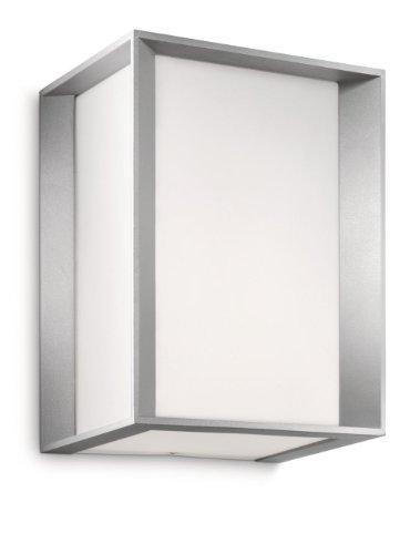 Philips 171838716 Ecomoods - Applique, Lumière Blanche Chaude D'économie D'énergie 14 W , 20.2 x 15.2 x 13.2 cm Ampoules Inclus , Gris