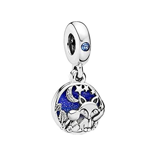 LIJIAN DIY 925 Sterling Jewelry Charm Beads Fox and Bunny Make Original Pandora Collares Pulseras Y Tobilleras Regalos para Mujeres