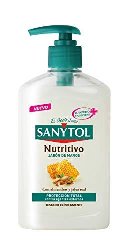 Sanytol - Jabón de Manos Nutritivo con Protección Total Contra Agentes Externos - Dosificador de 250 ml