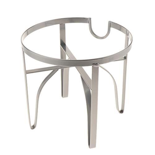 B Blesiya Eisen Ständer Gestell Halterung für Getränkespender - Silber M