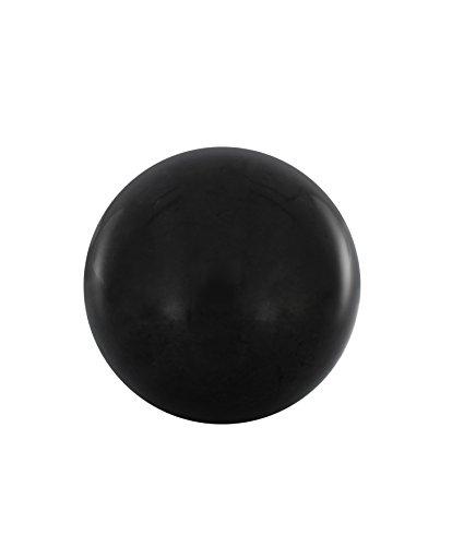 Heka Naturals Schungit Polierte Kugel 7 cm   Enthalten Fullerene   Authentische Karelische Schungit Stein-Figuren für Meditation und Energiebalancierung   7 Zentimeter Shungit Polierte Kugel