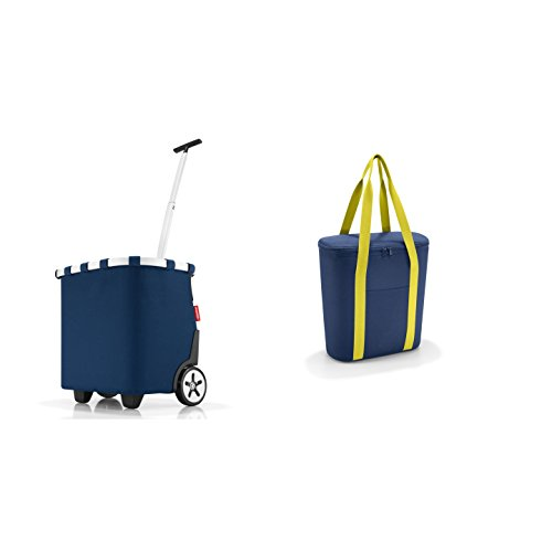 reisenthel carrycruiser Dark Blue Einkaufstrolley + reisenthel thermoshopper Navy Kühltasche im Set