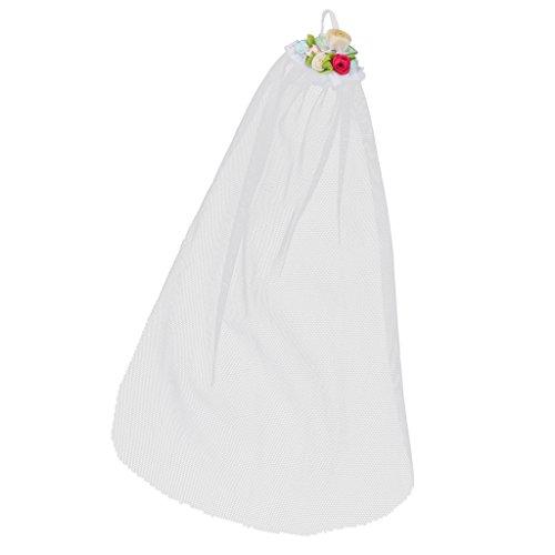 MagiDeal Elegante Puppe Hochzeit Brautschleier Weiße Schleier Für 12'' Puppe Brautkleid Zubehör - # 2