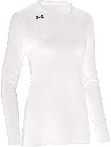Under Armour Women's UA Endless Power Volleyball Jersey Long Sleeve Top (X-Small, White)