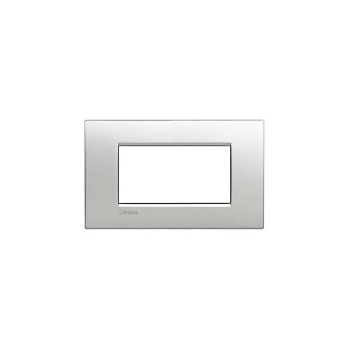 BTicino LNC4804TE Livinglight AIR Placca con 4 Moduli, Tech