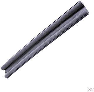 Perfk 2X Flexible Foam Window Door Bottom Seal Strip Soundproof Noise Reduction