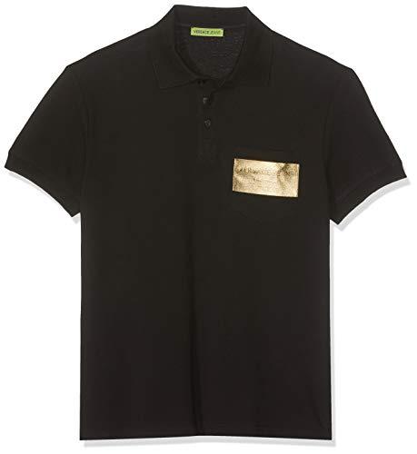 Versace Jeans Couture Herren Man T-Shirt Poloshirt, Schwarz (Nero 899.0), Medium (Herstellergröße: 48.0)