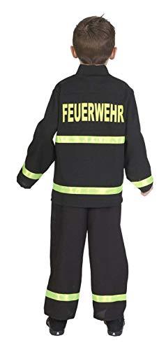 Andrea Moden 110-128 - Kinderkostüm Feuerwehrmann, Feuerwehr-Anzug, Jacke und Hose, Beruf, Mottoparty, Karneval