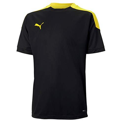 PUMA Jungen ftblNXT Jr T-shirt, Black/ULTRA YELLOW, 140
