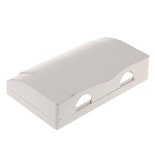 perfk Wandschalter Steckdose wasserdichte Abdeckung Spritzwassergeschützte Box 2 Löcher Weiß