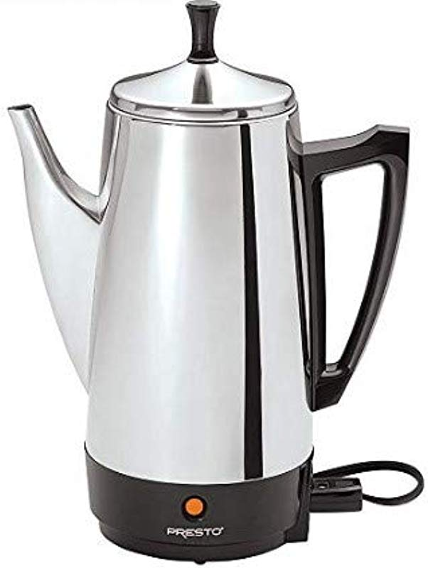 Presto E1PT02811 02811 12 Cup Stainless Steel Coffee Maker With 1 Year Extended Warranty