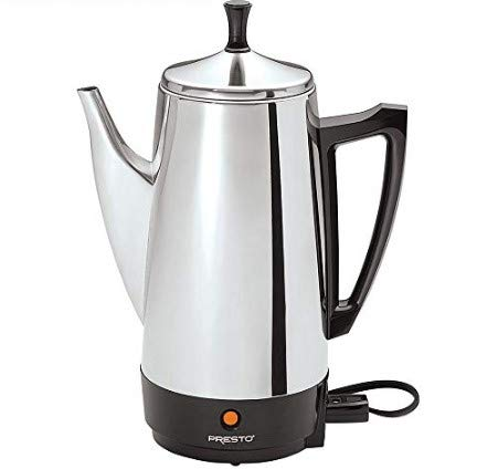 Presto E1PT02811 Stainless Steel 02811 12-Cup Coffee Maker with 1 Year Extended Warranty