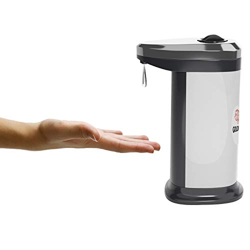 Dispensador automático Sensor infrarrojo jabón 400 ml baño Ducha Cocina Oficina dosificador Inteligente de Gel hidroalcoholico desinfectante Manos jabonera higienizante.