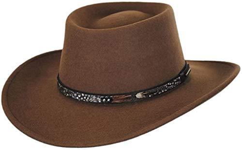 Stetson Kelso Crushable Hat (X-Large`, Driftwood)