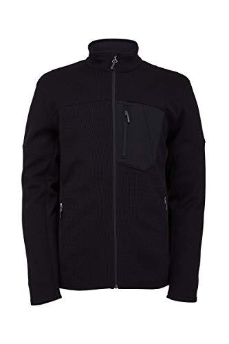 Spyder Herren Bandit Full Zip Fleecejacke, Black, XL