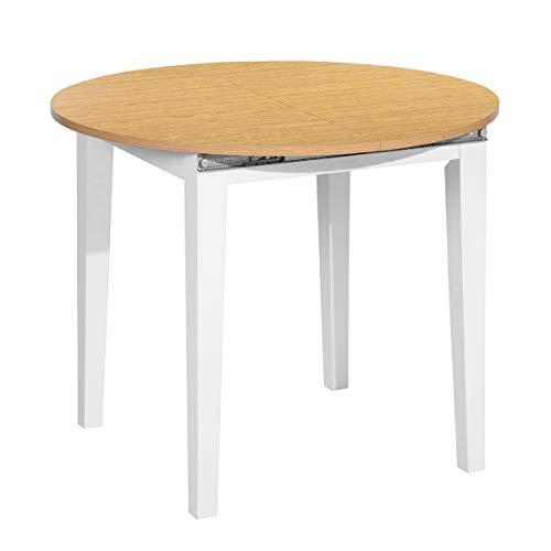 Muebles - Mesa de comedor extensible de hasta 6 plazas (90 x 90 -120 x 75 cm)