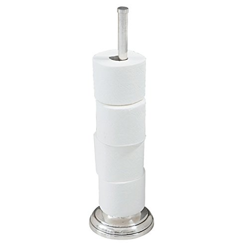 Loberon Toilettenpapierhalter Levi, Messing, H/Ø ca. 50/17 cm, antiksilber