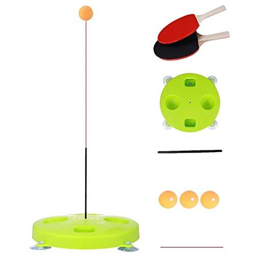 Entrenador de Tenis de Mesa de swingball de Tenis Adecuado con Herramientas de Entrenamiento de Ping Pong de Eje Suave elástico para niños Juegos de Bolas de Swing de Juego en Interiores o Exteriores